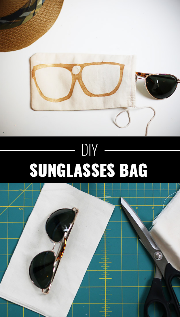 DIY Father's Day: Sunglass Bag